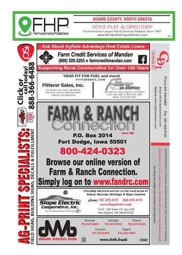 Adams County, ND Plat and Directory Book on dodge north dakota school, dodge steele county map, dodge texas map, dodge nebraska map,