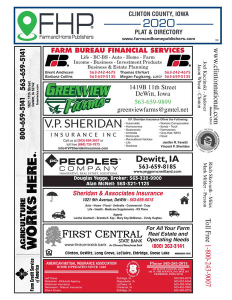 Cedar County, IA Plat and Directory Book