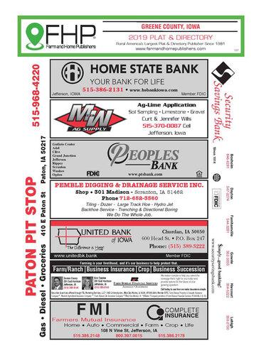 Greene County, IA Plat and Directory Book